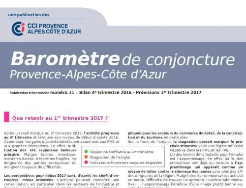 Conjoncture régionale 4ème trimestre 2016 / prévision 1er trimestre 2017