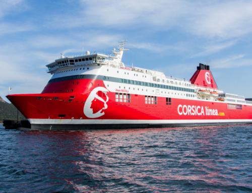 Un premier navire de Corsica Linea branché électriquement à quai