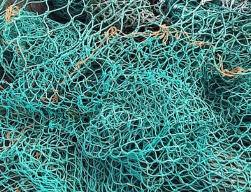 Des filets de pêche prêts à être transformés en lunettes